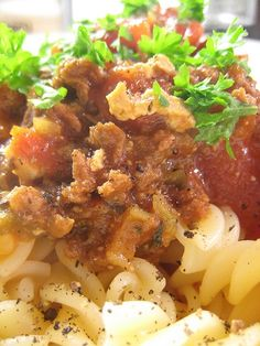 You will fall in love with this homemade bolognese sauce recipe from scratch. Homemade Bolognese Sauce, Vegan Bolognese, Homemade Pasta, Boneless Pork Shoulder, Pork Shoulder Roast, Veal Stew, Sauce Recipes, Tvp Recipes, Pasta Recipes