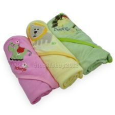 1pcsX100% Cotton New Baby Swaddle Blanket Wrap Bath Hooded Towel Robe