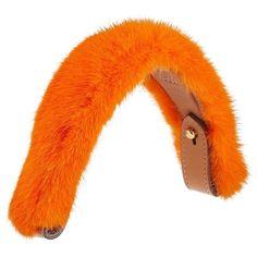 Women's Anya Hindmarch Build A Bag Genuine Mink Fur & Leather Handle (22.745 RUB) ❤ liked on Polyvore featuring bags, handbags, happy orange, colorful handbags, orange purse, colorful purses, anya hindmarch and multi color handbag