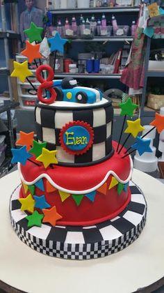 Race Car Themed Birthday Cake - Adrienne & Co. Bakery