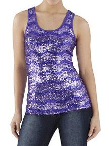 Sleeveless Allover Sequined Top  #dotsPintoWin