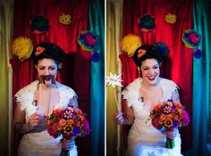 Dia de los Muertos (Day of the Dead) themed photo booth with mustache.