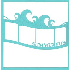 Summer Fun Wave 12 x 12 Overlay Laser Die Cut ($4.50) ❤ liked on Polyvore
