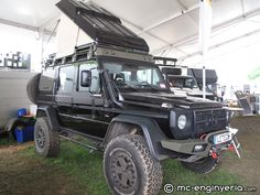 Mercedes 4x4 Camper with pop up roof