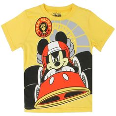 3a838d2d38 Color Yellow Sizes 2T 3T 4T Made From 100% Cotton Label Disney Mickey Mouse  Clubhouse