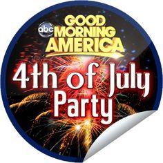 July 4th on GMA Sticker | GetGlue