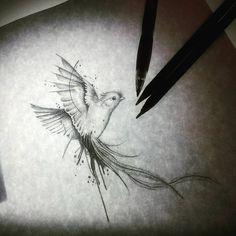 """Quetzal tattoo design.. Ave quetzal sketch... Diseño para próximo tattoo. Feliz noche de martes """