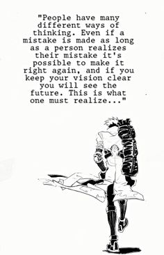 vash the stampede from trigun good way of thinking always learn from your mistake