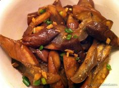 Stir Fry Chinese Eggplant with Garlic Sauce