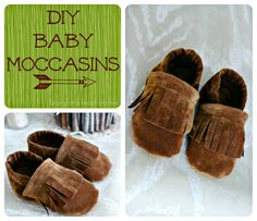 DIY baby moccasins--oh my, these are too cute!! Maybe if we have another baby, I will have time to make some of these! :)