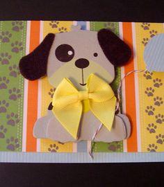 Kids Birthday Greeting Card of Doggy.
