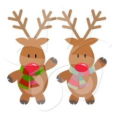 You probably won't find cuter Rudolph clip art or Reindeer clip art than the adorable images in this Christmas clip art.   #clipart
