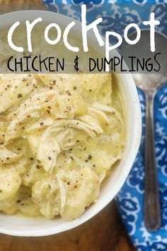 Crockpot Chicken and Dumplings - so easy and the perfect bowl of comfort food! - Crockpot Recipes Crockpot Chicken and Dumplings – so easy and the perfect bowl of comfort food! Crockpot Chicken and Dumplings – so easy and the perfect bowl of comfort food! Crockpot Chicken And Dumplings, Easy Crockpot Chicken, Crockpot Dishes, Crock Pot Cooking, Crockpot Lunch, Crockpot Chicken Casserole, Crockpot Ideas, Cooking Bacon, Cooking Tips