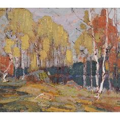 View Fall woods, Algonquin Park by Tom Thomson on artnet. Browse upcoming and past auction lots by Tom Thomson. Group Of Seven Art, Group Of Seven Paintings, Canadian Painters, Canadian Artists, Landscape Artwork, Abstract Landscape, Tom Thomson Paintings, Algonquin Park, Tree Art