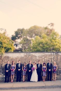 wedding party photo (mix it up instead of all girls on one side and boys on the other for all pics)