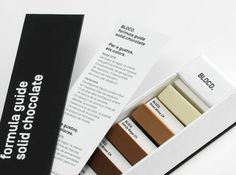 Chocolate Pantone Box by BLOCD #BLOCD is a design agency based in #Barcelona. At he Christmas time, they wanted to offer to their customers something that characterizes the agency. #Creatives chose #Pantone that the color guide in an indispensable tool for #designers. So the genius idea of a chocolate box was born as a shape of a Pantone's color guide gathering squares of several sorts of chocolates.