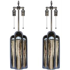 Pair of Nickel-Plated Lamps by Westwood Industries | From a unique collection of antique and modern table lamps at https://www.1stdibs.com/furniture/lighting/table-lamps/