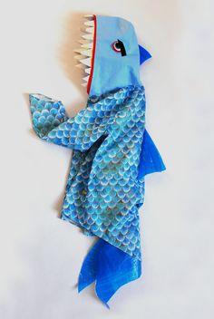Weiteres - Kinder Kostüm Barrakuda, Raubfisch, Hai, Fisch - ein Designerstück von maii-berlin bei DaWanda