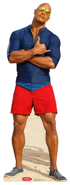 "MITCH BUCHANNON Cardboard Cutout Standup / Standee from ""Baywatch (2017)"" 
