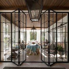 Iron frame bifold doors ❤️