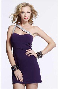 Purple Short Prom Dress