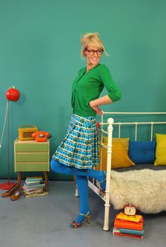 Blue Tights, Opaque Tights, Inka, Skirt Leggings, Winter Skirt, Girls Rules, Ankle Strap Sandals, Skirt Fashion, Short Skirts