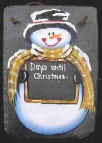 Slate Paintings for Christmas including personalized and custom slates