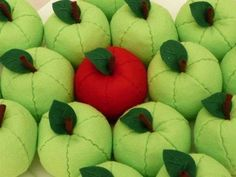 El Diario de una Madrastra: Manualidades para madrastras 2: Como hacer manzanas de fieltro paso a paso
