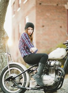 Any woman who rides a bobber is alright with me...