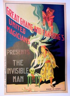 Collection of 2 Original FAK Hong 1920's Magic Posters on Linen | eBay
