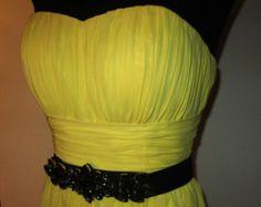 Yellow Dress with Black Belt - Artikel bearbeiten - Etsy