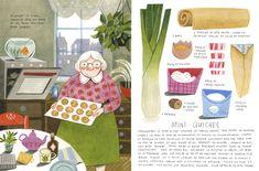felicita sala illustration: a cookbook as picture book - Food Recipe Children's Book Illustration, Food Illustrations, Watercolor Illustration, Illustration Children, Book Layout, Food Drawing, Book Design, Childrens Books, Illustrators