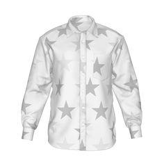 スターをちりばめたグラフィックのシャツです。/『スター シャツ 2 ホワイト』 - 7th Spirits