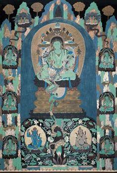 敦煌壁画 Dun Huang mural in China Dunhuang, Buddhist Art, Chinese Art, Buddhism, Fresco, Sketch, Culture, China, Creative