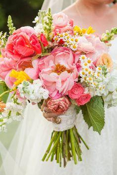 Bridal bouquet just bursting with joy #cedarwoodweddings Major League Love :: Megan+Jamie | Cedarwood Weddings