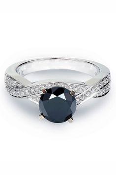 Bijoux Majesty 2.55 CTW Black Diamond Engagement Ring-Sizeable