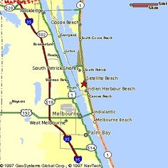 Melbourne Beach Florida Map.Map Of Brevard County Merritt Island Cocoa Beach Melbourne To