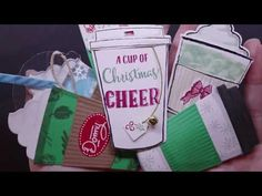 YouTube Christmas Card Crafts, Christmas Tag, Tea Time, Coffee Cups, Cheer, 21st, Tags, Blog, Fun