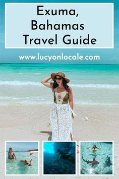 Here's everything you need to know to plan the perfect trip to Exuma, Bahamas - activities, restaurants, hotels, when to go, and more! #travel #travelblog #blog #blogger #travelblogger #destination #trip #bahamas #thebahamas #caribbean #exuma #island #islands #tropical #paradise #travelguide #guide #visitexuma #visitthebahamas South America Destinations, Travel Destinations, Caribbean Vacations, Exuma Island, Destin Beach, Travel Guide, Travel Advice, Vacation Trips, Travel Usa