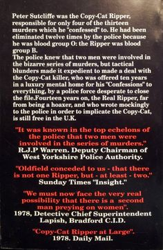 Back cover of my book. Peter Sutcliffe, Blood Groups, Yorkshire, No Response, My Books, Cover, Blankets, Yorkshire England