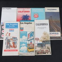 Vintage California and Los Angeles Maps 1966-1976 by CheekyBirdy