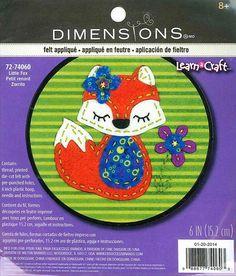Dimensions Felt Applique Kit   Little Fox by DebiCreations on Etsy