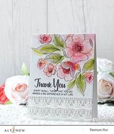 Floral Thank You Card with Yoonsun Hur | altenewblog.com | Bloglovin'