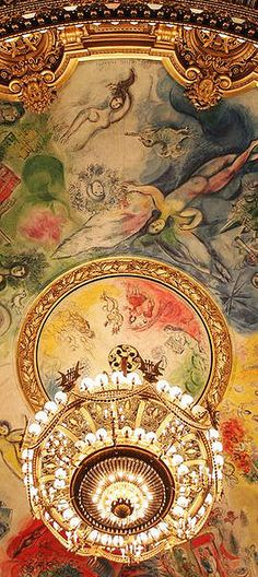 Beautiful Ceiling/Chandelier le plafond de l'opera garnier via anbenna..BellaDonna