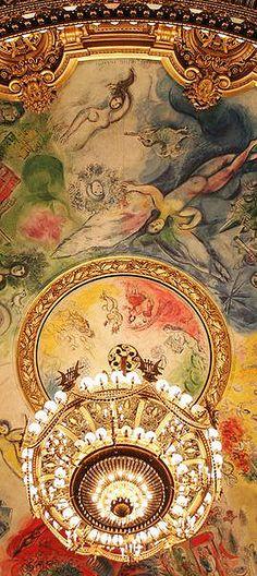 Beautiful Ceiling/Chandelier le plafond de l'opera garnier via anbenna..BellaDonna