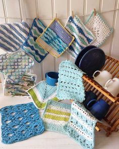 Maggie's Crochet · Seaside Dishcloths Set Crochet Pattern