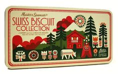 Marks & Spencer biscuit packaging (illustration by Sanna Anukka)
