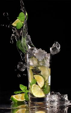 Water with lime n mint!  So refreshing