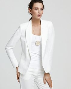 Can't ever go wrong with a white blazer - I love them!
