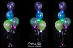 Pearl Wedding Balloon Bouquet with Sparkle Collars by Sparkle Lites® Balloon Lights, Led String Lights, Helium Filled Balloons, Battery Operated Led Lights, Balloon Ideas, Wedding Balloons, Balloon Bouquet, Color Themes, Light Colors